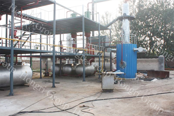 Waste Engine Oil Recycling to Base Oil Plant